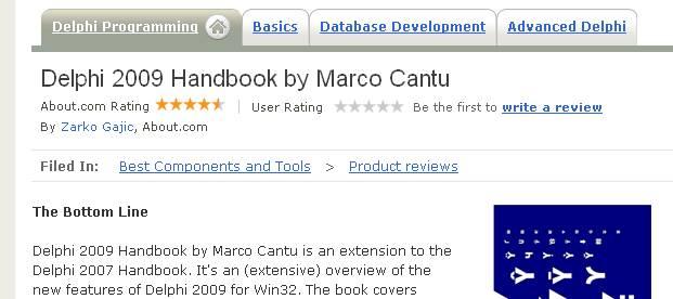 Delphi 2009 Handbook Review on delphi about com