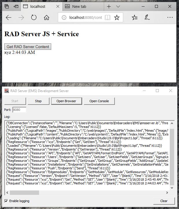 RAD Server Support for Web Files in RAD Studio 10.2.3
