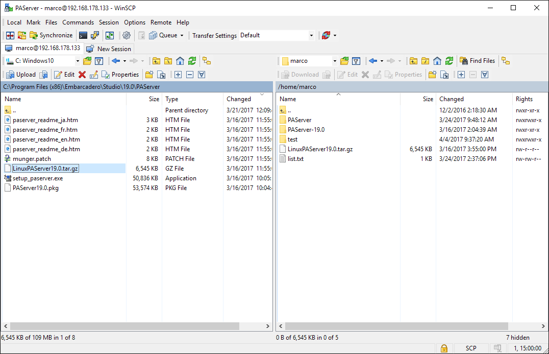 winscp linux