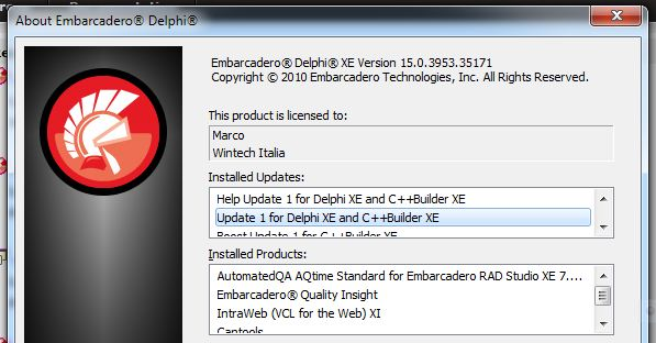 Delphi XE Update 1 Released.